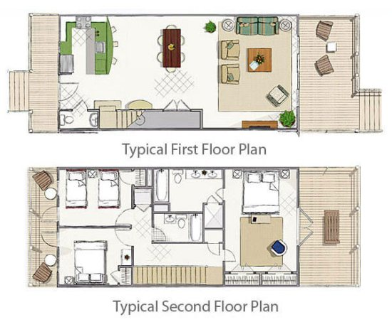 Floor Plan for Sunset Bay at Indigo Reef ~ Boat slip directly behind home
