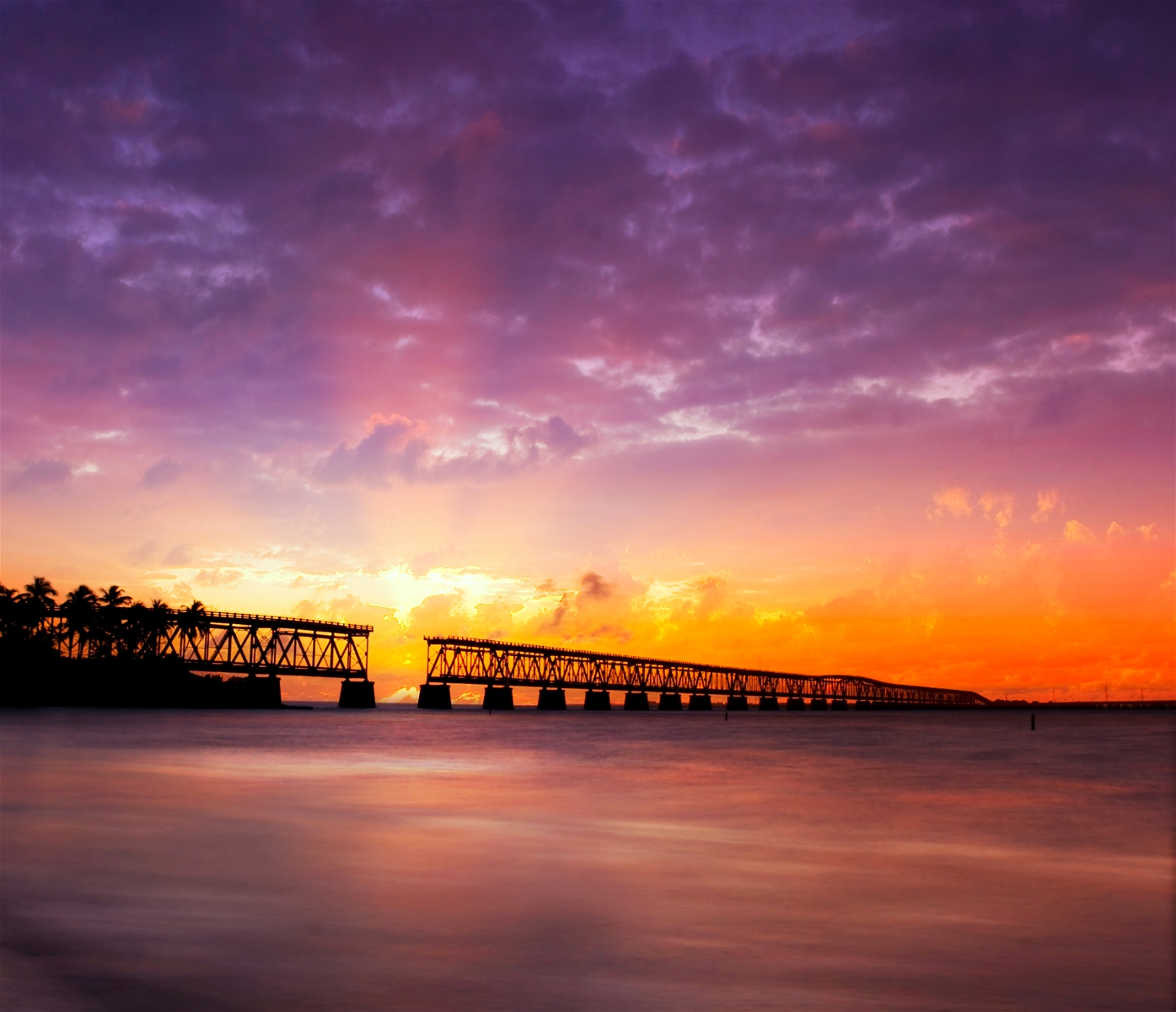 Bahia Honda Bridge Sunset in Summer