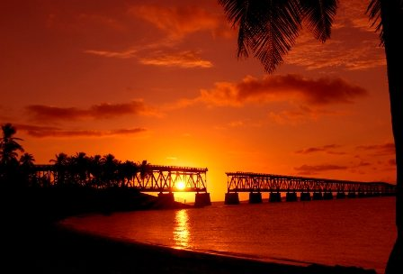 Seven Mile bridge sunset